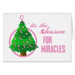 Milagros del navidad del cáncer de pecho tarjeton