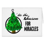 Milagros del navidad del melanoma felicitacion