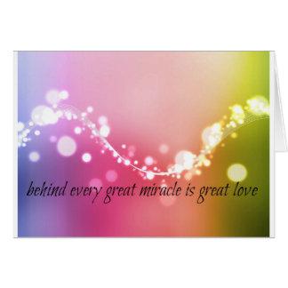 Milagros del navidad tarjeta de felicitación