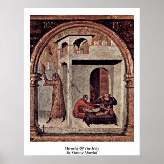 Milagros del santo de Simone Martini Impresiones