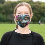 Milagros La Luna dia de los Muertos Face Mask