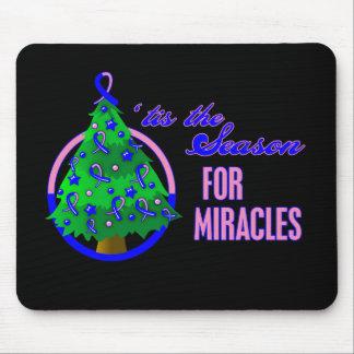 Milagros masculinos del navidad del cáncer de pech alfombrilla de ratones
