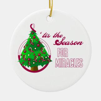 Milagros principales del navidad del cáncer del cu adorno