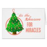 Milagros uterinos del navidad del cáncer tarjetas