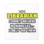 Milagros y bibliotecarios… divertidos blocs de notas