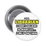 Milagros y bibliotecarios… divertidos pin