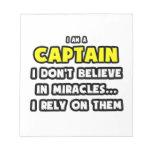 Milagros y capitanes… divertidos bloc de papel