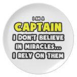 Milagros y capitanes… divertidos plato de cena