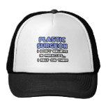 Milagros y cirujanos plásticos gorras de camionero