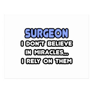 Milagros y cirujanos tarjeta postal