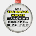 Milagros y escritores técnicos… divertidos ornatos