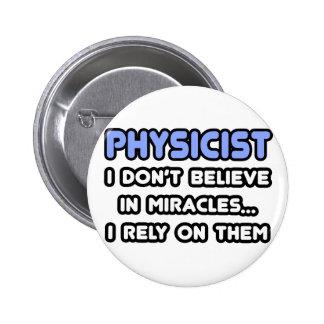 Milagros y físicos pin redondo de 2 pulgadas