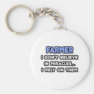 Milagros y granjeros llavero personalizado