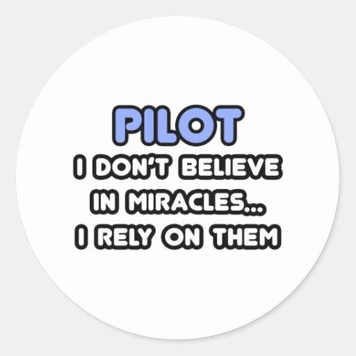 Milagros y pilotos etiquetas redondas