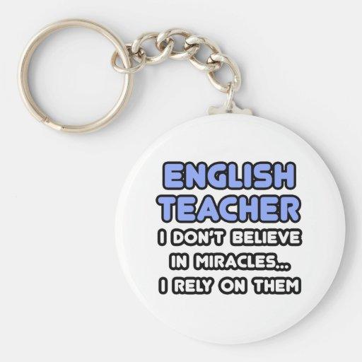 Milagros y profesores de inglés llaveros personalizados