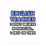 Milagros y profesores de inglés tarjeta postal