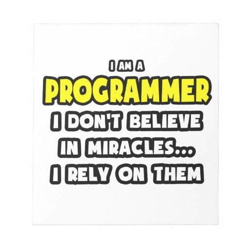 Milagros y programadores… divertidos bloc de notas