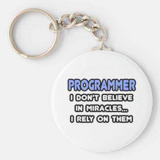 Milagros y programadores llavero redondo tipo pin