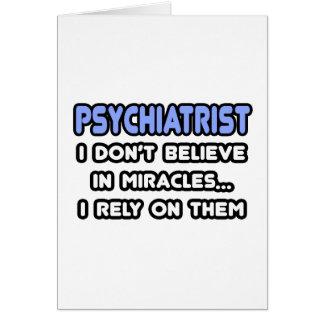 Milagros y psiquiatras tarjeta