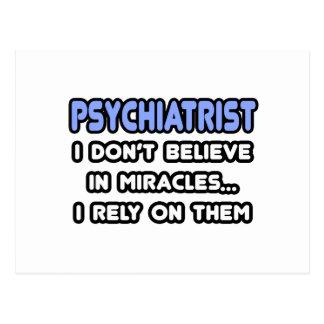 Milagros y psiquiatras tarjeta postal