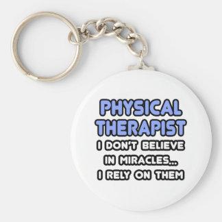Milagros y terapeutas físicos llavero personalizado