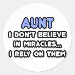 Milagros y tías etiqueta redonda