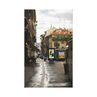 Milan after rain Italy photography canvas print