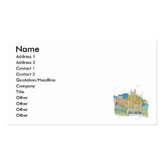 Milan Double-Sided Standard Business Cards (Pack Of 100)