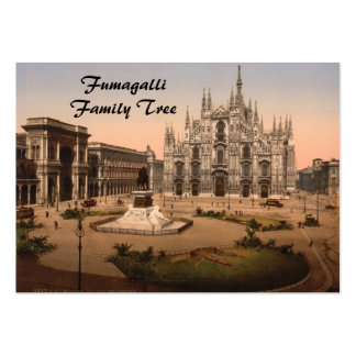 Milan Cathedral and Piazza, Lombardy, Italy Large Business Cards (Pack Of 100)