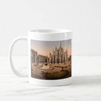 Milan Cathedral and Piazza, Lombardy, Italy Classic White Coffee Mug