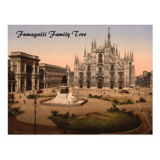 Milan Cathedral and Piazza Lombardy Italy Post Cards