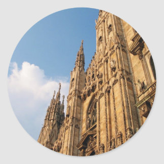 Milan Cathedral at Sunset Classic Round Sticker