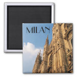 Milan Cathedral at Sunset Fridge Magnets