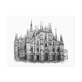 Milan Cathedral Stretched Canvas Print