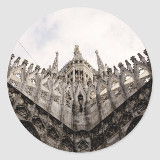Milan cathedral dome - Italy Classic Round Sticker