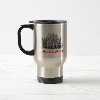 Milan Cathedral Drawing Travel Mug
