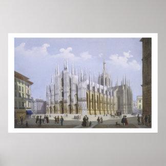 Milan Cathedral from 'Views of Milan and its Envir Poster