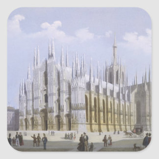 Milan Cathedral from 'Views of Milan and its Envir Square Sticker