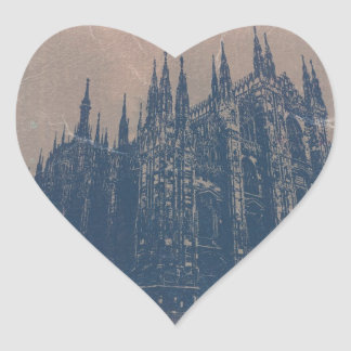 Milan Cathedral Heart Sticker