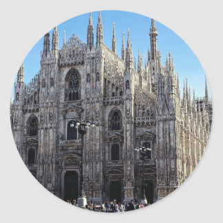 Milan Cathedral, Italy Classic Round Sticker