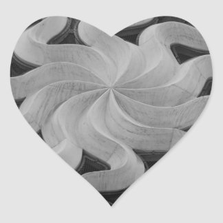 Milan Cathedral Tracery Heart Sticker