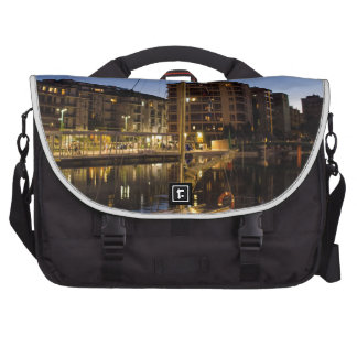 Milan, city on the river laptop messenger bag