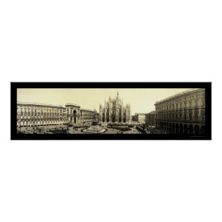 Milan Duomo Square Italy Photo 1909 Poster