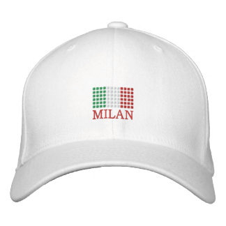Milan Italy Cap - Italian Flag Hat Embroidered Baseball Cap