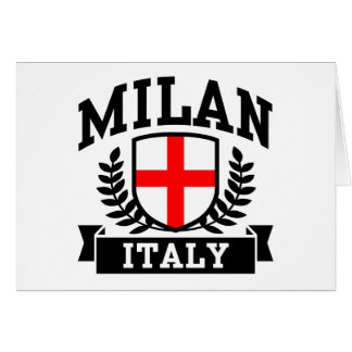 Milan Italy Card