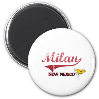 Milan New Mexico City Classic 2 Inch Round Magnet