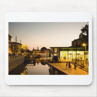 Milan overlooking the canal mouse pad