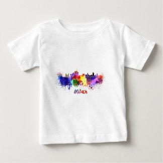 Milan skyline in watercolor baby T-Shirt