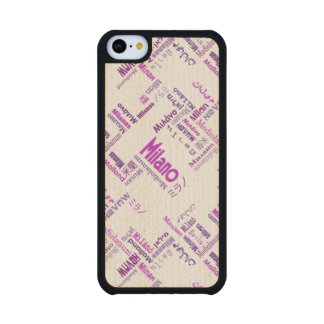 Milan Carved® Maple iPhone 5C Case
