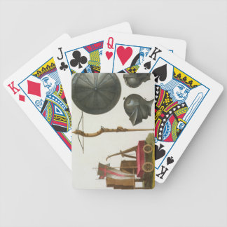 Milanese chariot, crossbow and armour, plate 17 fr bicycle playing cards